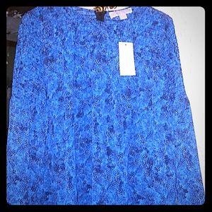 Blue M.K. blouse